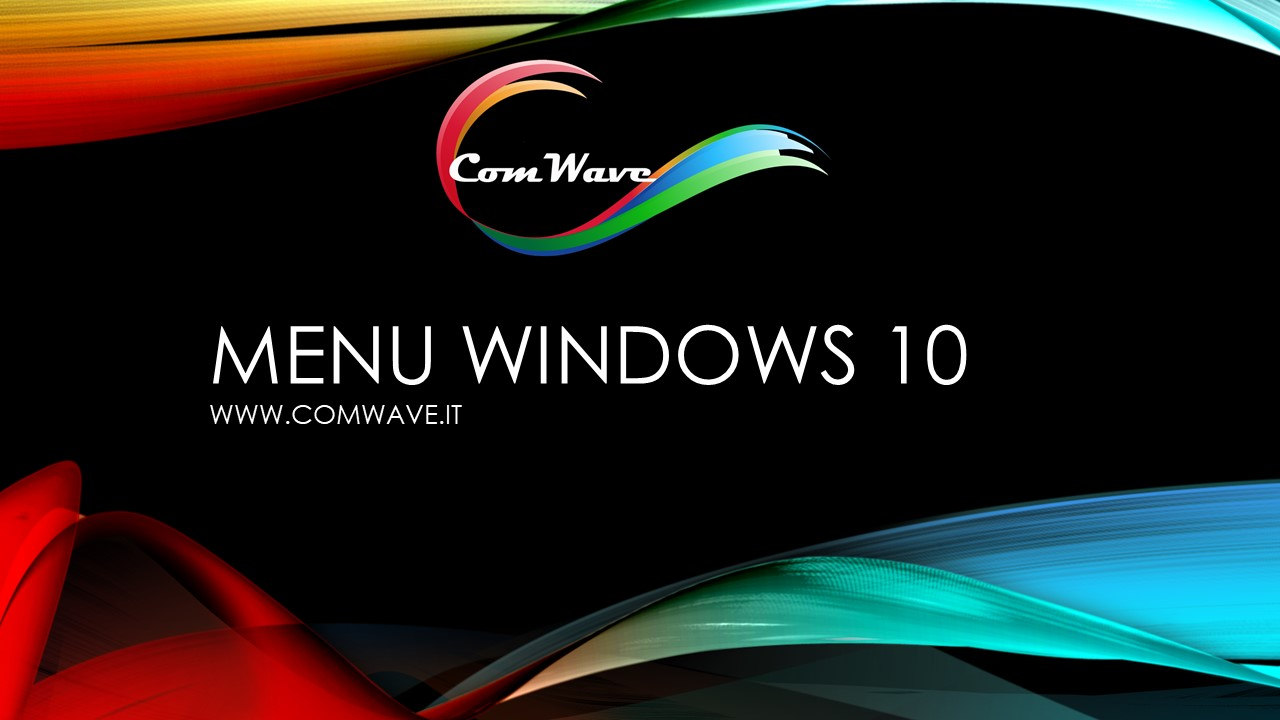 menu windows 10