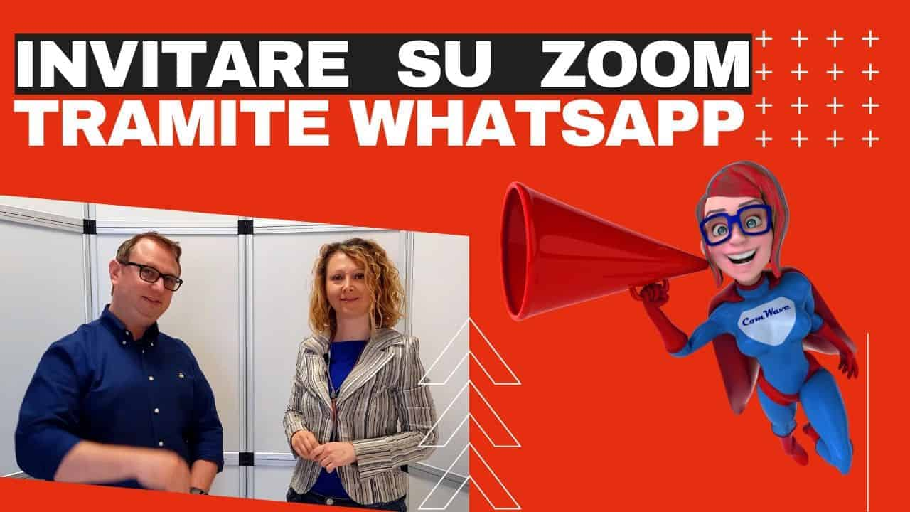 Invitare su Zoom con Whatsapp