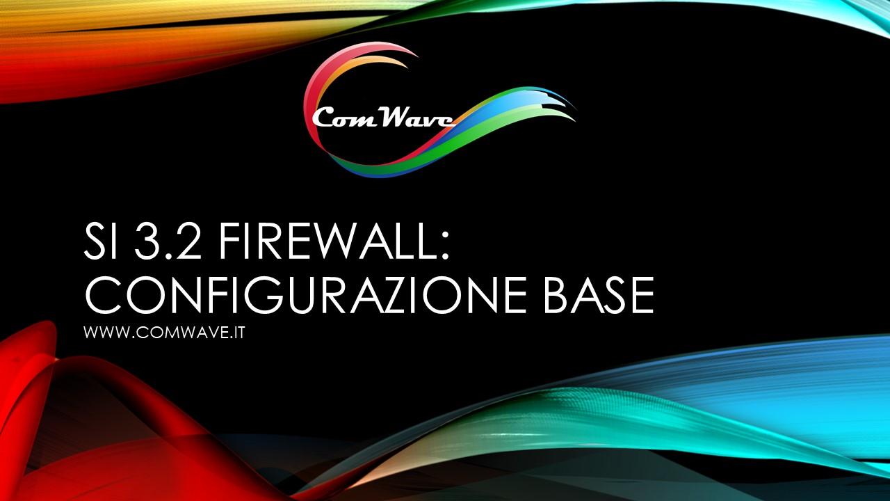 configurare un firewall