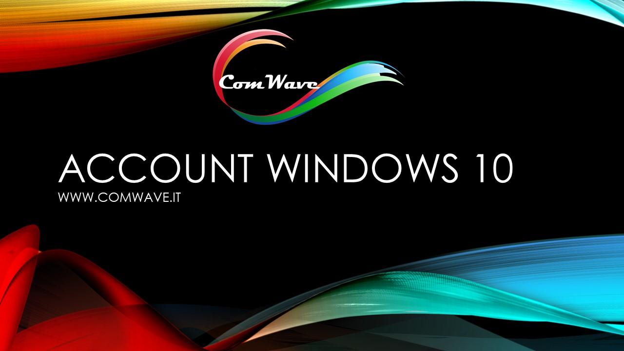 account windows 10