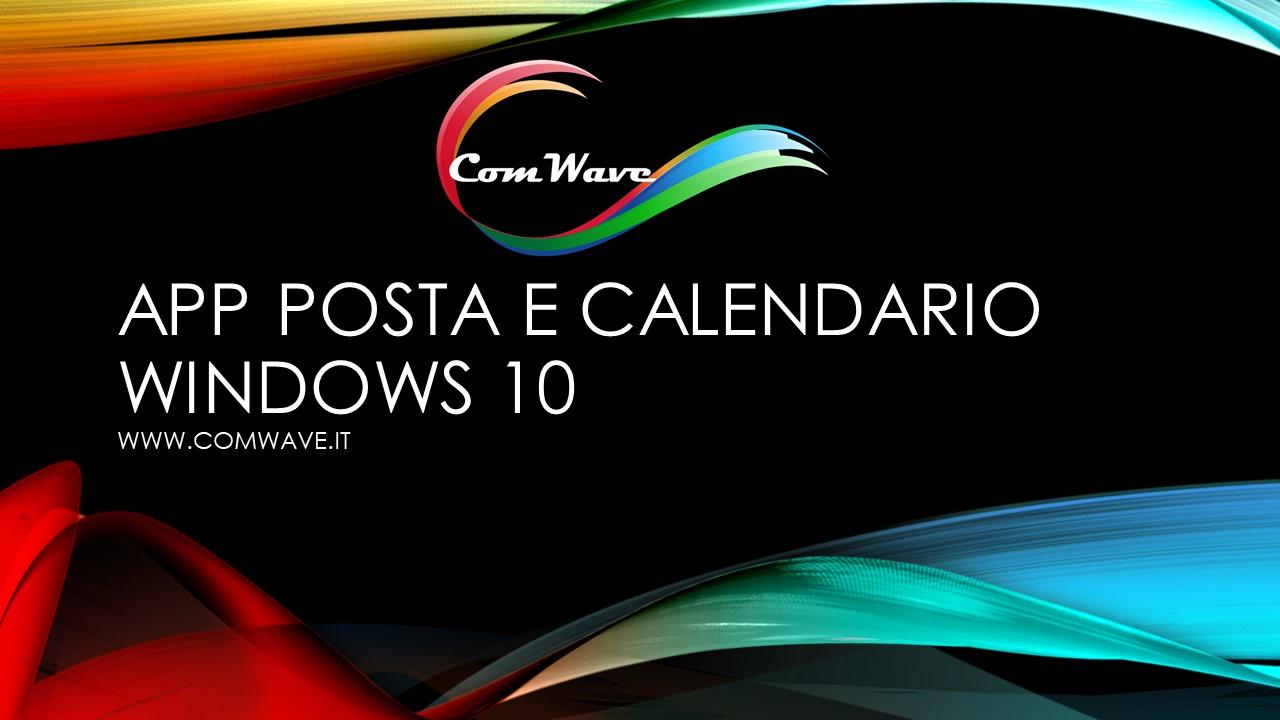 app posta e calendario Windows 10