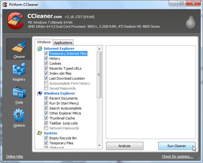 Miglior programma per pulire il PC