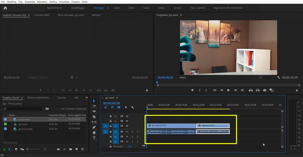 Creare un perfetto video tipo Intervista doPPia in Premiere Pro comwave(1)