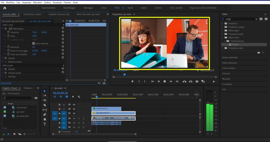Creare video intervista doppia