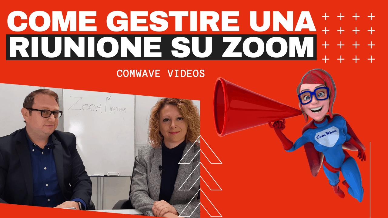 Host come usare zoom meeting Gestire riunione su zoom